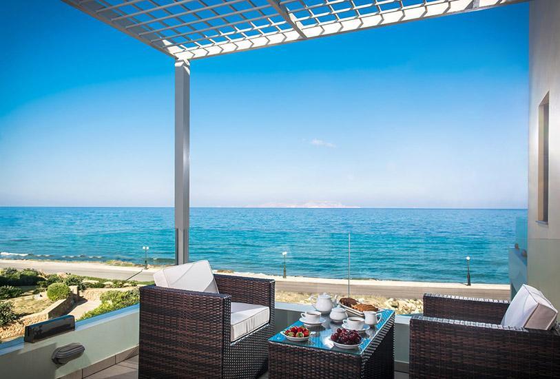 Villas in Crete- Seafront luxury villa in Gouves near Heraklion, Crete