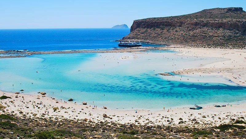 Balos lagoon, the seventh most beautiful beach in Europe.